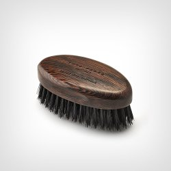Acca Kappa Beard Brush Wenge Wood Black Natural Bristles – Četka za gustu i dugu bradu