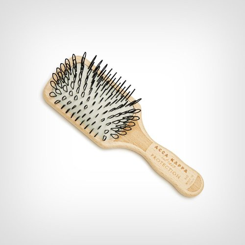 Acca Kappa Protection – Mini Paddle Brush – Beech Wood – Looped Nylon – Četka za masažu vlasišta - Četke za kosu