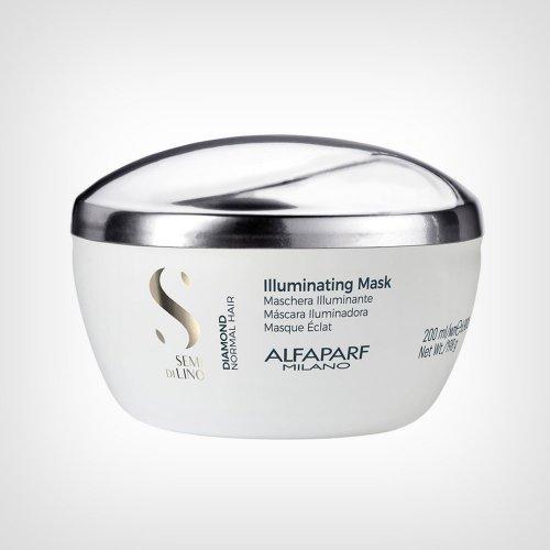 Alfaparf Semi Di Lino Diamond Kristal maska 200ml - Nega suve kose